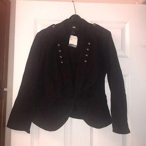 H&M Black Military Blazer